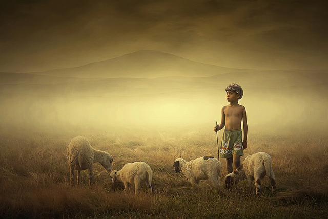 ipoenk-graphic,aku-dan-kambingku,People-Children-Indonesia-Landscape-Art-Photoshop-Photography-Human Interest-Nature-Culture-Digital