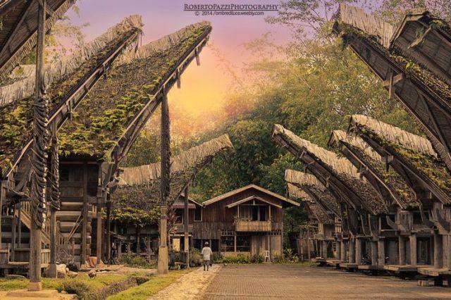 Ilustrasi Rumah Tradisonal Toraja (pinterest.com)